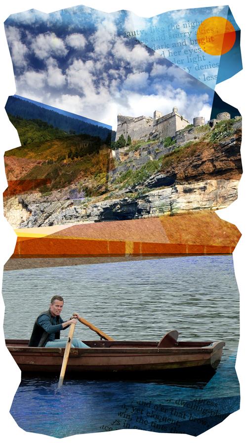 Chris Flynn rowing in Ullswater