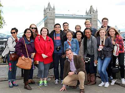 Chris Flynn and 13 students in London