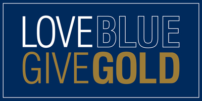 Love Blue, Give Gold Logo