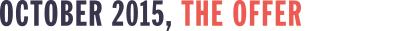 Start Up Titles: october 2015, the offer