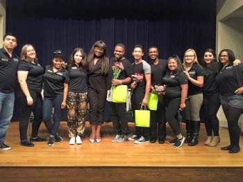 The Mahogany Project performers with Multicultural Leadership Board