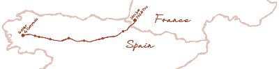 El Camino de Santiago trail map image