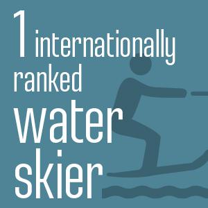 1 internationally ranked water skier