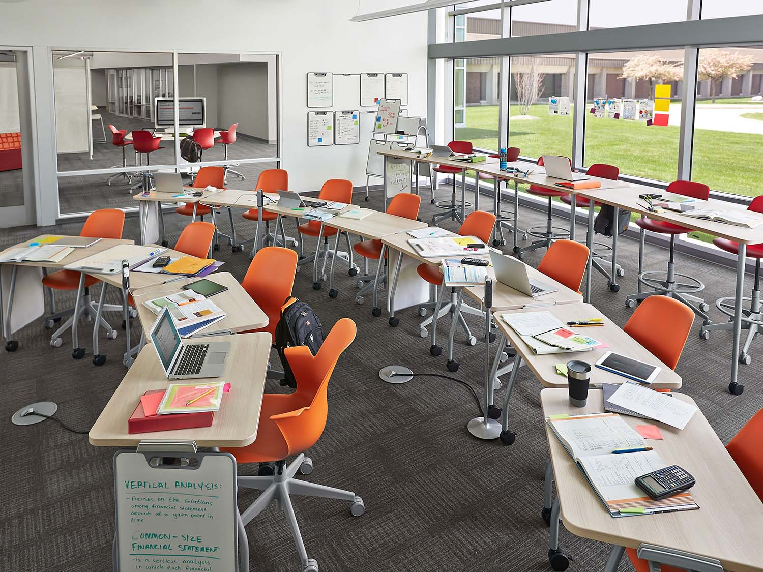 Active Learning Center Classroom with movable chairs and desks