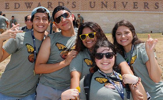5 St. Edward's University CAMP program students