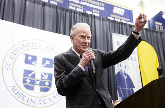 Dr. Martin toasts 2019 graduates at Hilltop Send-Off