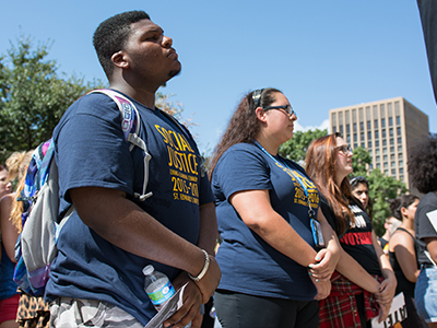 Social justice rally in Austin, Texas