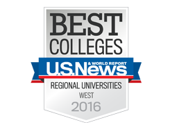 U.S. News & World Report 2016 Badge, St. Edward's University