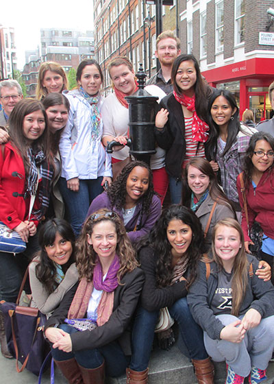 Trish Baynham and Students in London