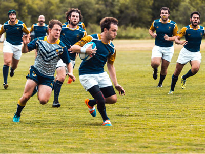Rugby Club Sports team in action on the field