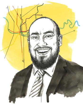 Eric Bustos portait illustration