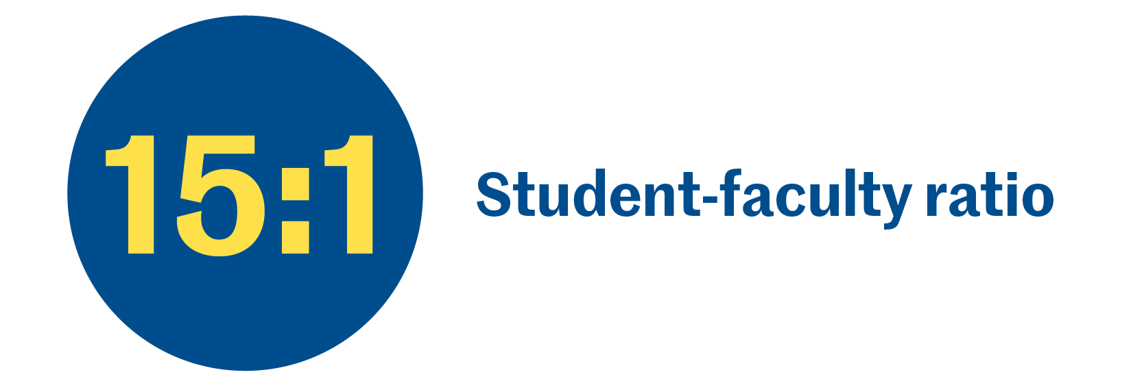 15:1 Student-faculty ratio