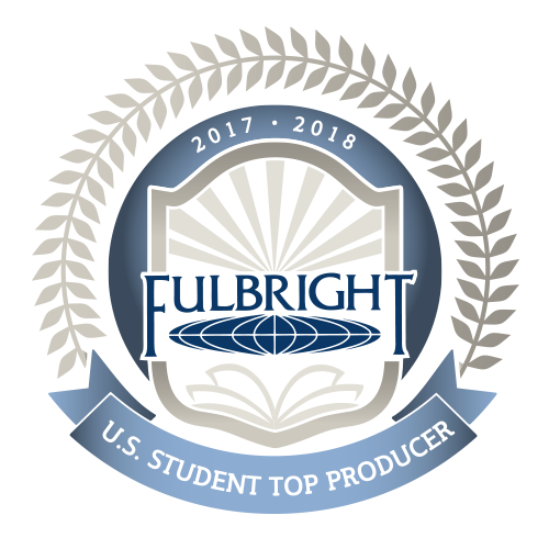 2017-2018 U.S. Fulbright Student Top-Producer Badge