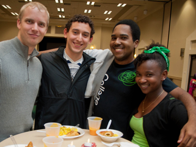 International students at welcome dinner