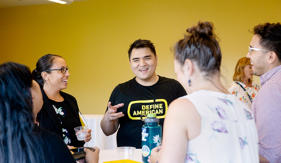 Jose Antonio Vargas talks to students and faculty at St. Edward's University