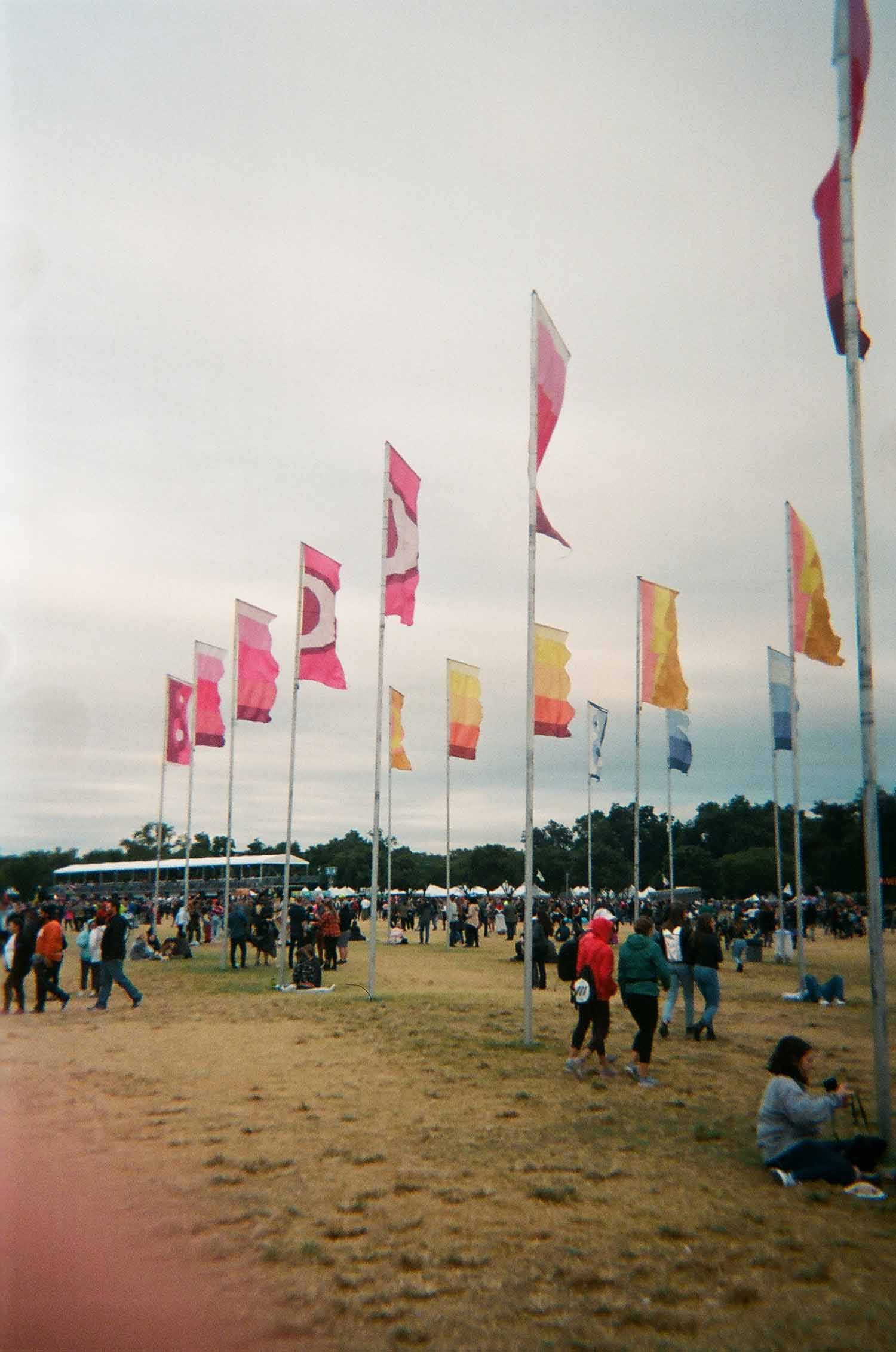 The flags at ACL.