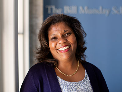 Marianne-Ward Peradoza, dean of The Bill Munday School of Business
