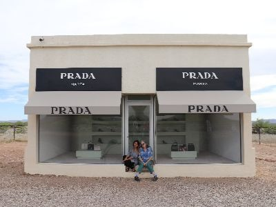 Joi Torres and Alex Barron in Marfa