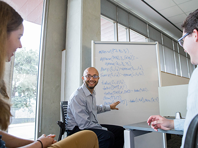 Bilal Shebaro teaching students computer science