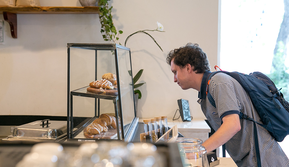 Ben Griffith drops by one of his favorite coffee shops, Seventh Flag Coffee on South 1st Street.