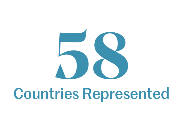 58 countries represented