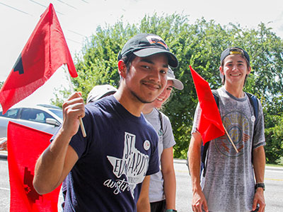 Students Marching in Farmworkers Anniversay March