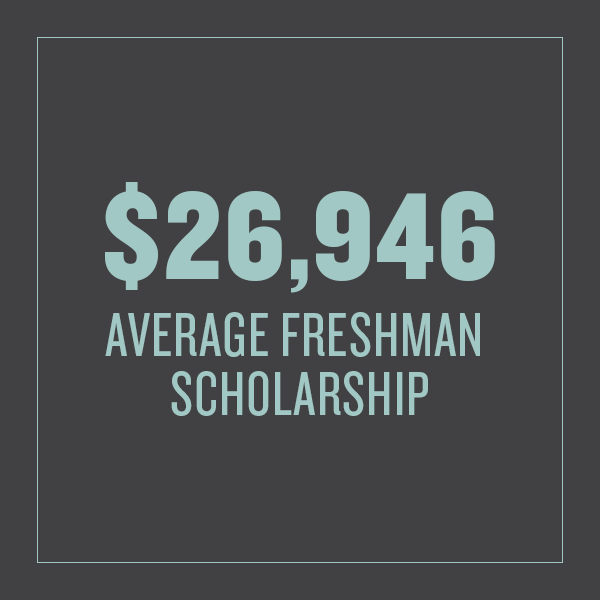 Average freshman scholarship received in 2016 is $26,946