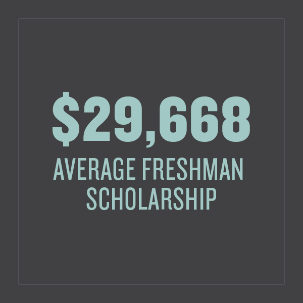 Average freshman scholarship is $29,668