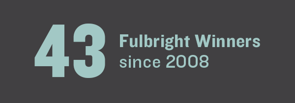 43 Fulbright Winners since 2008