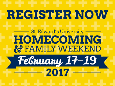 Register for St. Edward's 2017 Homecoming and Family Weekend