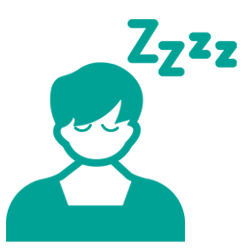 Sleepy student icon