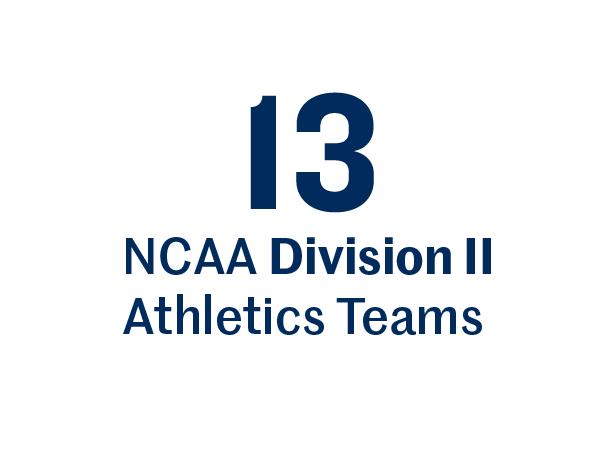 13 NCAA Division II Athletics teams