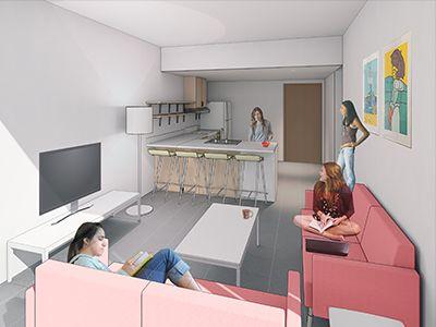 Pavillions Apartments Rendering