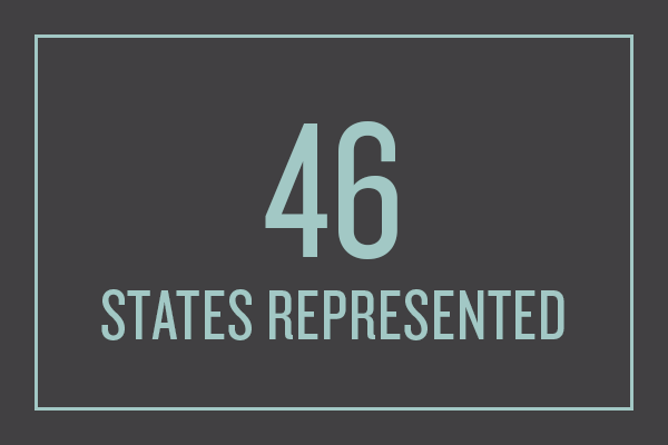 46 states represented in 2016-2017