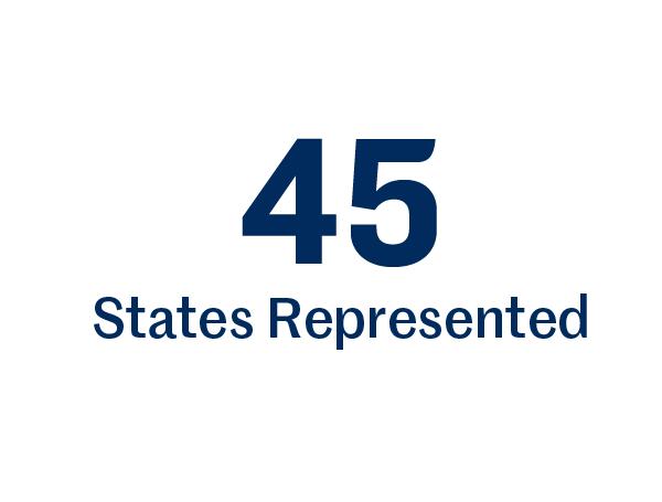 45 States represented