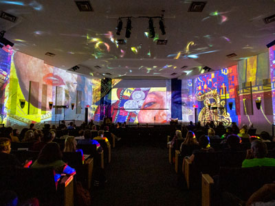 McCarthy Lecture Series Light Show