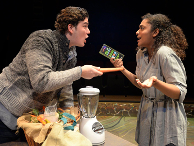Theater Arts Students Acting in Mouthful, MMNT at St. Edward's
