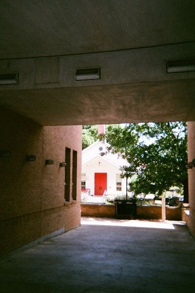 Glimpse of the chapel