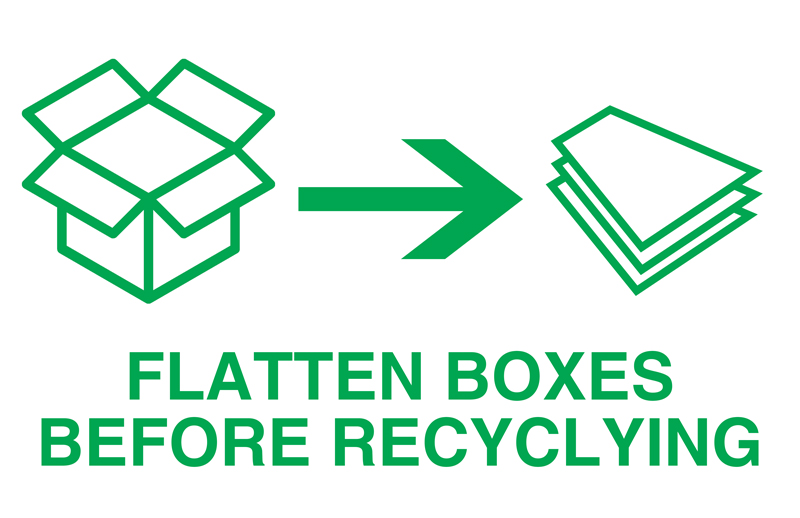 Flatten boxes before recycling