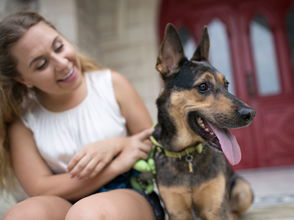 Juliann Butz with Dog