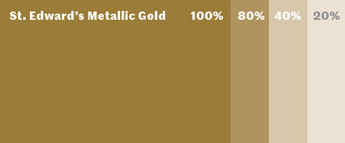 St Eds metallic gold