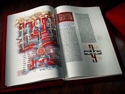 St. John's Bible gospel of Matthew