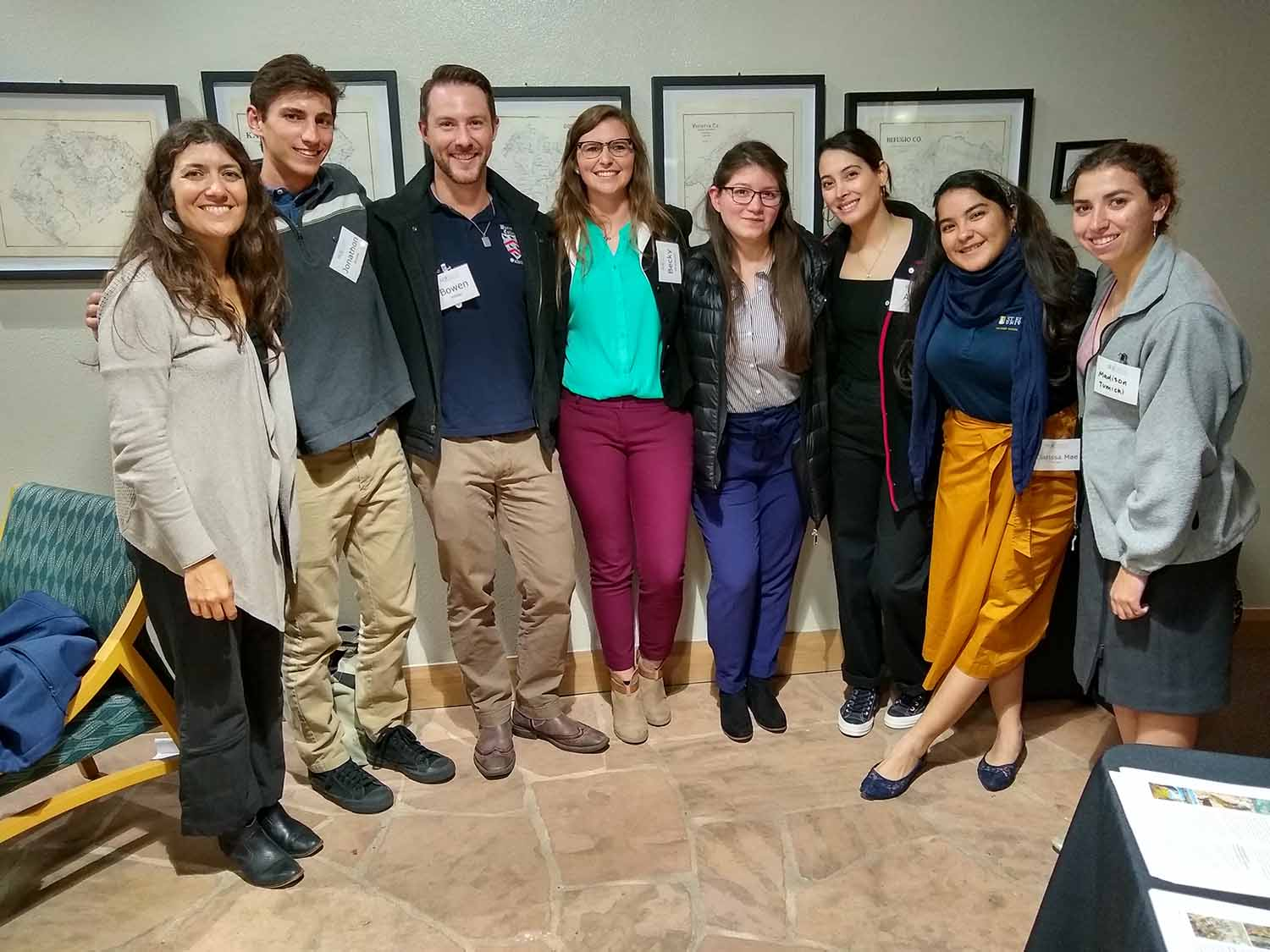 ENSP and MSEM students at Texas Society for Ecological Restoration Conference