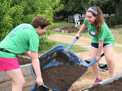 Students serve their community.