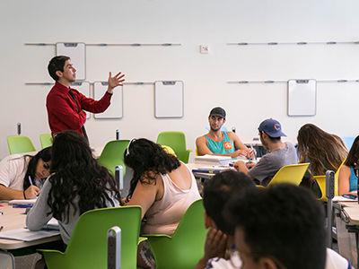 Professor in a class
