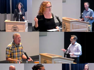 Participating speakers at the Experiments in Teaching Event