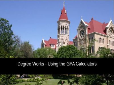 Video of Degree Works Using the GPA Calculators