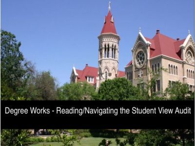 Video of Degree Works Reading and Navigating the Student View Audit