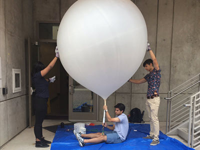 St. Edward's students work with faculty to provide critical data during Hurricane Harvey