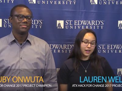 Zuby Onwuta and Lauren Welch, 2017 ATX Hack for Change project champions